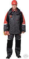 """Костюм """"Фаворит-Мега"""": зимний куртка дл.,п/комбинезон темно-серый с черным и красн. и СОП, фото 1"""