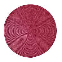 Круглая скатерть для сервировки стола, красная, D 38 см
