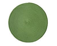 Круглая скатерть для сервировки стола, зеленая, D 38 см