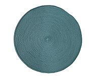 Круглая скатерть для сервировки стола, голубая, D 38 см