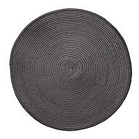 Круглая скатерть для сервировки стола, черная, D 38 см