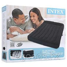 Полутороспальный надувной матрас 191x137x23см с подголовником, Intex 66768, фото 3