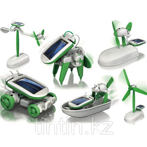 Конструктор 6 в 1 на солнечных батареях