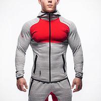 Куртка Gym Aesthetics серые с красным, фото 1