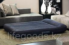 Двуспальный надувной матрас 203x183х23 см с подголовником, Intex 66770, фото 3