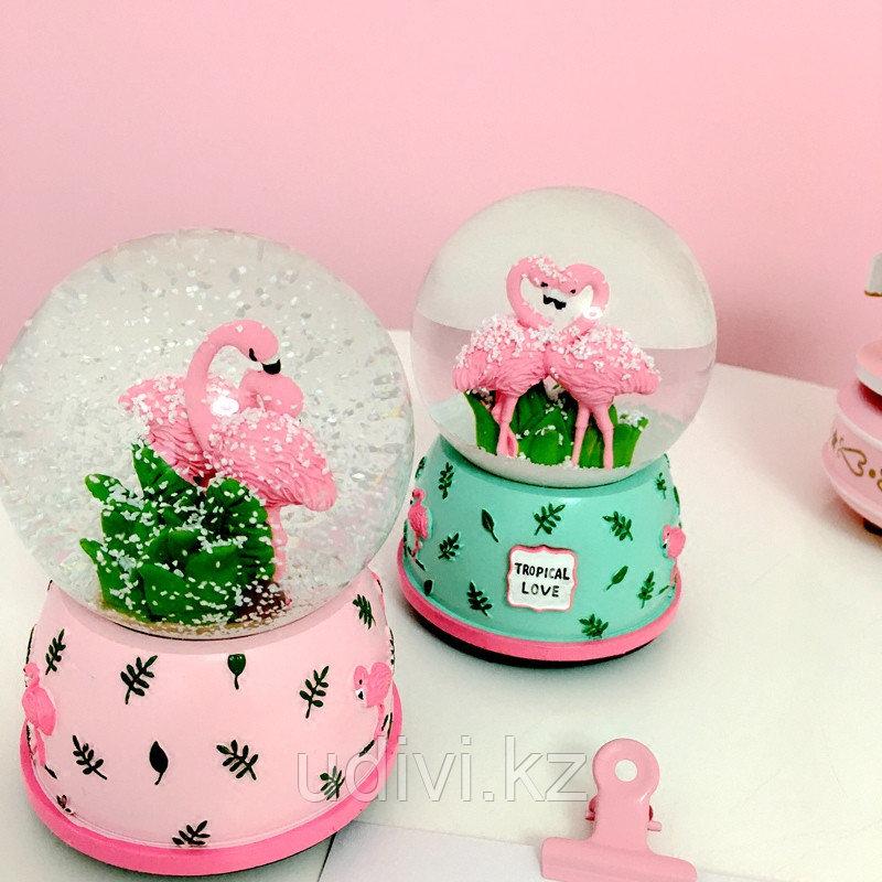 Хрустальный музыкальный шар Фламинго
