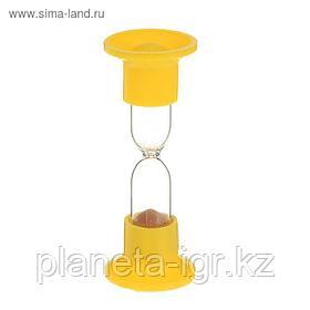 Часы песочные настольные на 1 мин,  Красные.11,5см Сима Лэнд