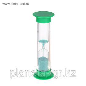 Часы песочные. Серия Пластик. Зеленые 1 мин, 9см Сима Лэнд