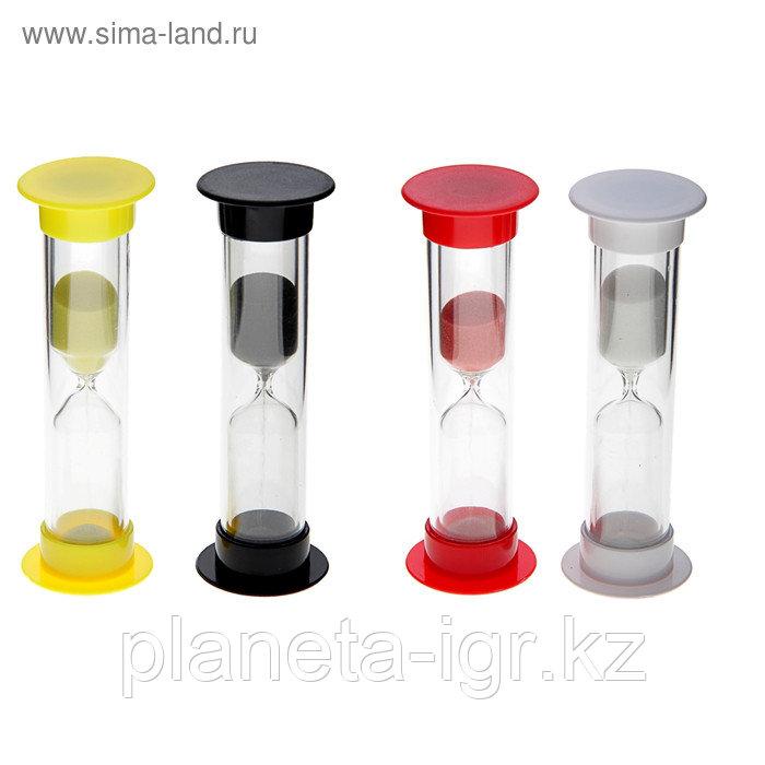 Часы песочные. Серия Пластик. Красный. 5 мин, 9см Сима Лэнд
