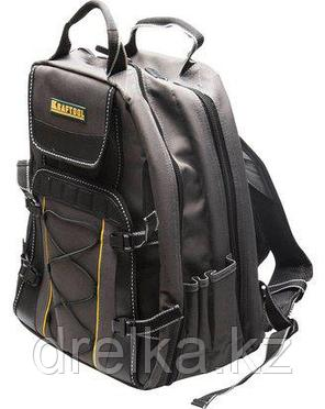 Сумка рюкзак для инструмента KRAFTOOL 38745, INDUSTRIE, два внутренних отделения, 49 карманов, фото 2