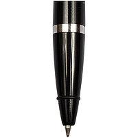 Ручка шариковая настольная OfficeSpace синяя, 0,7мм, черный корпус, металлическая цепочка, фото 2