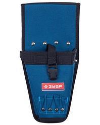 Пояс для инструментов ЗУБР 38630, ЭКСПЕРТ, для шуруповерта с отделениями для бит и сверл