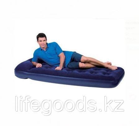 Односпальный надувной матрас со встроенным ножным насосом, Bestway 67223, фото 2