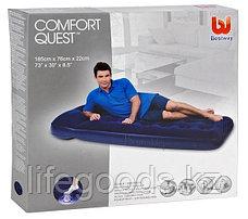 Односпальный надувной матрас со встроенным ножным насосом, Bestway 67223, фото 3