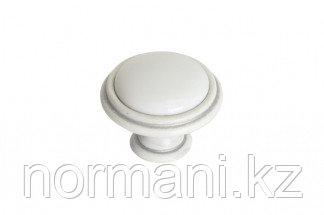 Ручка-кнопка, отделка серебро винтаж + керамика
