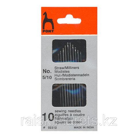 """Иглы для наметки швейные ручные Straws конверт """"Простое ушко"""" №5-10"""