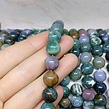 Яшма агатовая (зелёная) 10 мм, фото 2
