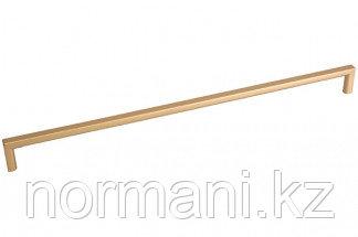 Мебельная ручка скоба, замак, размер посадки 192мм, отделка золото матовое