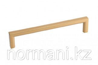 Мебельная ручка скоба, замак, размер посадки 128мм, отделка золото матовое