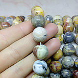 Яшма агатовая (жёлтая) 12 мм, фото 2