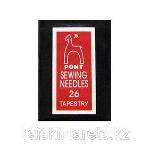 Иглы гобеленовые Pony sewing needles 26 tapestry