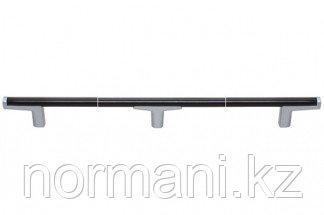 Ручка-скоба 608мм, отделка хром матовый лакированный + венге
