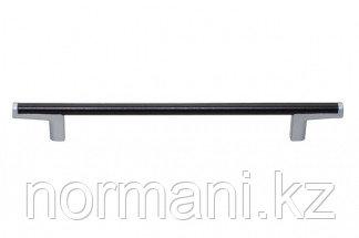 Ручка-скоба 192мм, отделка хром матовый лакированный + венге