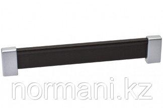 Ручка-скоба 192 мм, отделка хром матовый лакированный + венге
