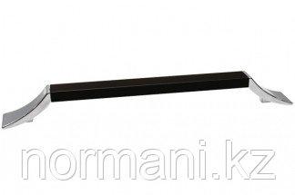 Ручка-скоба 128 мм, отделка хром глянец + чёрный матовый