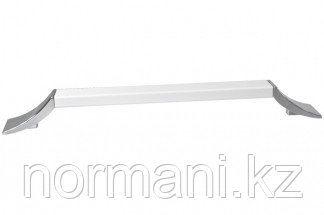 Ручка-скоба 288 мм, отделка хром глянец + белый матовый