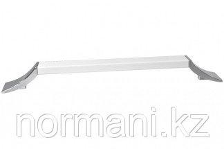 Ручка-скоба 192 мм, отделка хром глянец + белый матовый