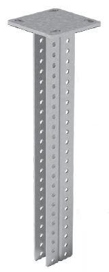 Стойка потолочная сварная двойная для средних нагрузок 600 мм OSTEC