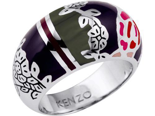 "Кольцо  ""Kenzo"" / серебро - 17 размер"