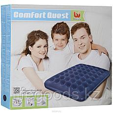 Двуспальный надувной матрас 203x152x22 см, Bestway 67003, фото 3