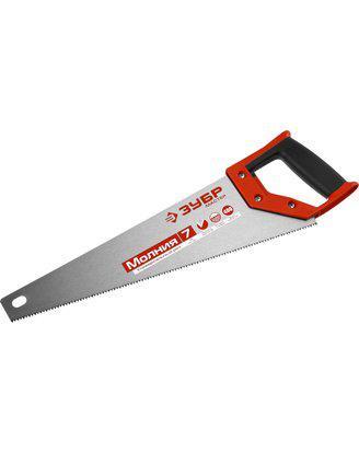 Ножовка по дереву (пила) ЗУБР Молния, рез вдоль и поперек волокон, 450 мм, 7 TPI