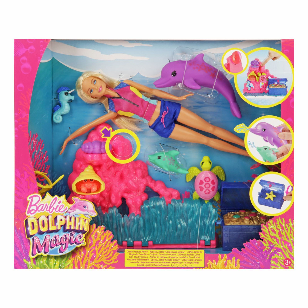 """Barbie """"Магия дельфинов"""" Игровой набор - Сокровища океана, Барби"""