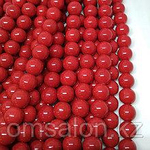 Коралл красный (имитация), 10 мм