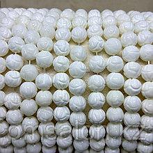 Коралл белый, Лотос, 8 мм