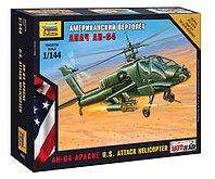 """Американский вертолет """"Апач"""" АН-64, сборка без клея, 1\144"""