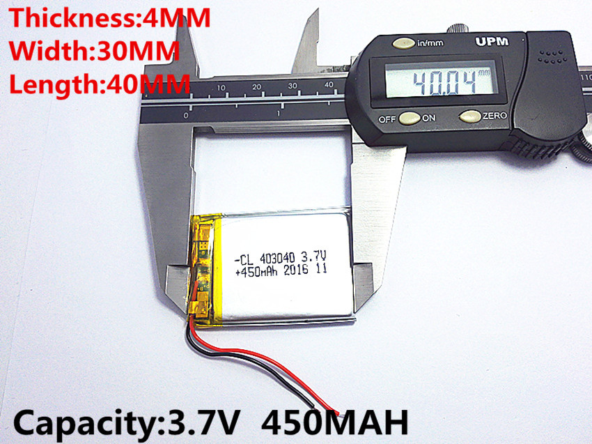 403040 Литий-полимерный аккумулятор 3.7V для GPS,MP3,MP4