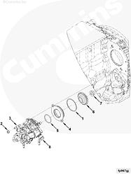 Шестерня привода топливного насоса Cummins ISF 3.8 Евро-4 5271959