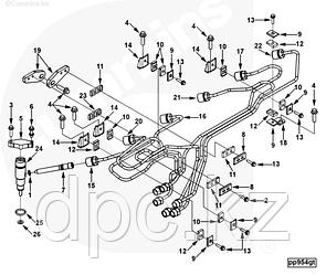 Коннектор топливной форсунки Cummins QSC8.3 4931173 4945790 3944833 3942192