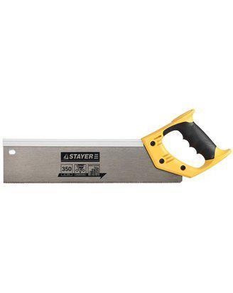 Ножовка для стусла STAYER c усиленным обушком (пила) 350 мм, 12 TPI, фото 2