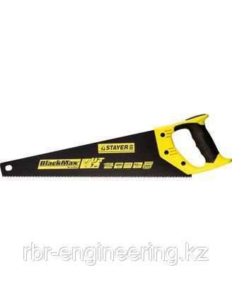 Ножовка универсальная (пила) STAYER BlackMAX 400 мм, 7TPI, тефлоновое покрытие