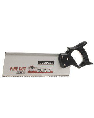 Ножовка для стусла c обушком (пила) STAYER 300 мм, 8 TPI, прямой закаленный зуб, точный рез.