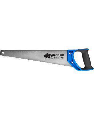 Ножовка по дереву (пила) 500 мм, шаг 4 TPI (6 мм), СИБИН, фото 2