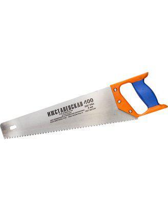 Ножовка ИЖ по дереву с двухкомпонентной пластиковой рукояткой, шаг 4мм, 400мм