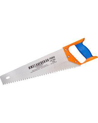 Ножовка ИЖ по дереву с двухкомпонентной пластиковой рукояткой, шаг 5мм, 400мм