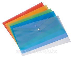 Папки пластиковые с кнопкой
