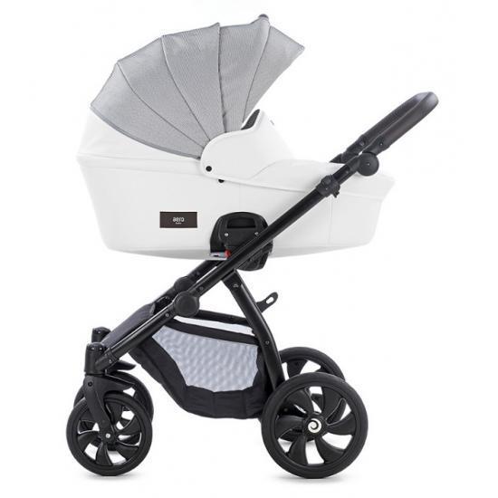 TUTIS коляска 2 в 1 AERO короб+прогулка Белая кожа